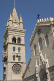 Bell Tower and Astronmical Clock in Messina Italy Stock Photo