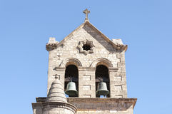 Bell tower of a baroque church Royalty Free Stock Photography