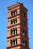 Bell tower of basilica dei Santi Giovanni e Paolo Royalty Free Stock Images