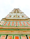 Bell Tower for the Basilica di Santa Maria del Fiore and Giotto's Campanile - Florence, Italy Stock Image