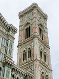 Bell Tower for the Basilica di Santa Maria del Fiore and Giotto's Campanile - Florence, Italy Royalty Free Stock Photos