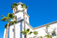 Bell Tower at Basilica San Juan Capistrano Royalty Free Stock Photos
