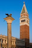 Bell tower of the Basilica of San Marco, Venice Stock Photo