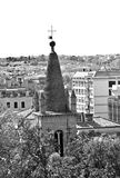Bell Tower the Basilica of Santa Maria del Popolo in Rome Royalty Free Stock Photo