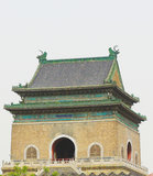 The Bell Tower in Beijing. Beijing hutong traditional drum tower Royalty Free Stock Photo