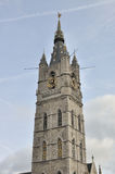 Bell tower of the belfry of Ghent Belgium Royalty Free Stock Image