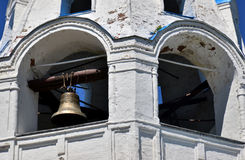 The bell tower and the bell in the church Stock Photos