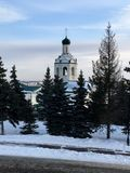 Bell tower. In Kazan Stock Images
