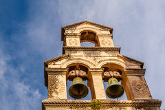 Bell Tower and Blue Sky in Background, Dubrovnik. Croatia Royalty Free Stock Image