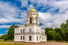 Bell tower of Brest Fortress, Belarus Stock Image