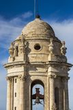 Bell tower of Cadiz Cathedral. It was built between 1722 and 1838 stock images