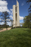The bell tower Carillon, Canberra. Canberra, ACT, Australia, 11th October 2016. Portrait view of the Carillon in daytime. The Carillon is situated on an island Royalty Free Stock Image