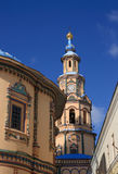 Bell tower of cathedral. Royalty Free Stock Photo