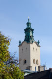 The bell tower of the Cathedral of the Assumption of the Virgin Mary (Latin Cathedral) Royalty Free Stock Images