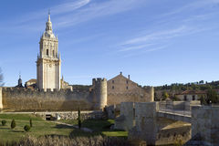 Bell tower of the Cathedral of Burgo de Osma Royalty Free Stock Photos