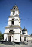 Bell tower of the cathedral of Christ's Nativity in Chisinau, Moldova Royalty Free Stock Photos