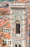 Bell tower of cathedral church, Florence, Italy Royalty Free Stock Images
