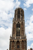 Bell tower of the cathedral church, Utrecht Royalty Free Stock Images