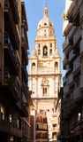 Bell tower of Cathedral de Santa Maria. Murcia Royalty Free Stock Photos