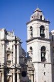 Bell tower of cathedral of Havana - Cuba. Bell tower of the catedral de la Virgen Maria de la Concepcion Inmaculada de La Habana - Cuba Royalty Free Stock Images