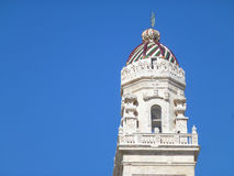 The bell tower of the cathedral in Lecce Royalty Free Stock Photos
