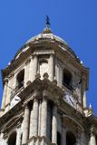 The bell tower of the Cathedral of Malaga, Spain Royalty Free Stock Photography