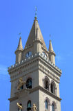 The bell tower of the cathedral of Messina: detail Royalty Free Stock Photos