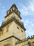 Bell tower of Cathedral Mosque of Cordoba, Spain. Detail of the bell tower of Cathedral Mosque of Cordoba, Spain Stock Photo