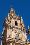 Bell tower of the Cathedral of Salamanca Royalty Free Stock Images
