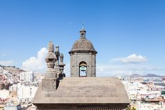 The Bell Tower of the Cathedral of Santa Ana, Las Palmas. A view of the bell tower of the Cathedral of Santa Ana in Las Palmas de Gran Canaria, Spain Stock Images