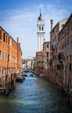 The bell tower of the Cathedral of St. George. Venice. Royalty Free Stock Photos