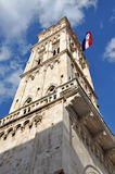 Bell tower of the Cathedral of St Lawrence. Trogir, Croatia Stock Image
