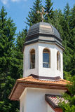 The bell tower at the Cathedral of St. Panteleimon in the monastery metochion in Bulgaria Royalty Free Stock Photo