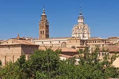Bell tower of the Catheral of Tarazona, Zaragoza province, Arago. N Stock Images