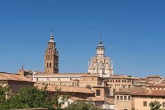 Bell tower of the Catheral of Tarazona, Zaragoza province, Arago. N, Spain Royalty Free Stock Photography