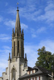 The bell tower of the Catholic cathedral Stock Images