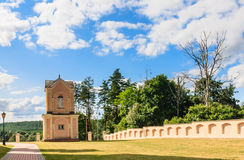 Bell tower. Catholic church of the Holy Trinity and Dominican Monastery. Liskiava Royalty Free Stock Photos
