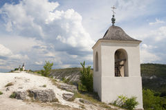 Bell tower of the cave monastery. Stock Photo