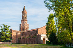 The bell tower of the Chiaravalle abbey in Milan Stock Photography