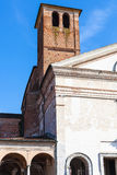 Bell tower of Chiesa di San Sebastiano in Mantua Stock Image