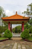 Chinese garden in a temple. Bell tower in the Chinese garden in Fo Guang Shan temple in Jenjarom, Malaysia Stock Photos