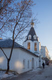 Bell tower of the church of the Archangels Michael and Gabriel i stock image