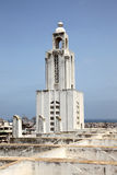 Bell tower church in Casablanca, Morocco Royalty Free Stock Photography