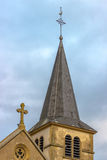 Bell Tower of Church, Ennery, Lorraine, France Royalty Free Stock Images