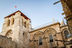 Bell tower, Church of the Holy Sepulchre in Jerusalem Stock Photos