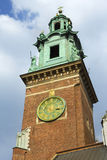 Bell tower of the church inside the Wawel castle Stock Photography
