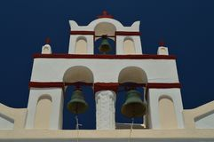 Bell Tower Of A Church In Oia On The Island Of Santorini. Architecture, landscapes, travel, cruises. July 7, 2018. Island of Santorini, Thera. Greece Stock Photo