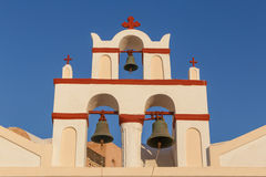 Bell tower of church in Oia Royalty Free Stock Photo