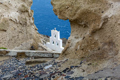 Bell tower of the Church. Over the sea cliff Royalty Free Stock Photos