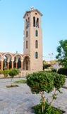 Bell tower of the church of Saint Nektarios. Faliraki Royalty Free Stock Images